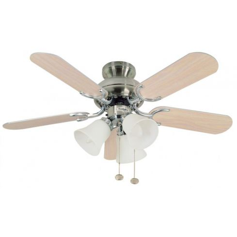 Capri Combi 36inch Ceiling Fan with Light Stainless Steel