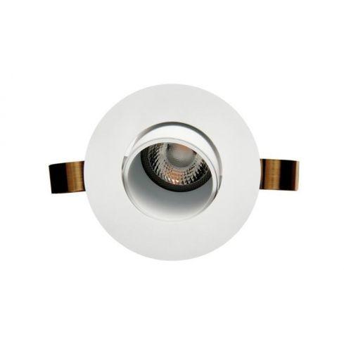 1901 Downlight, White Bezel/Trim, White Baffle, Round, Adjustable, 2700K, Medium Beam, Mains Dimming