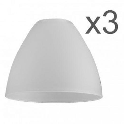 3 Fusion Glass Bowl Shaped Shades