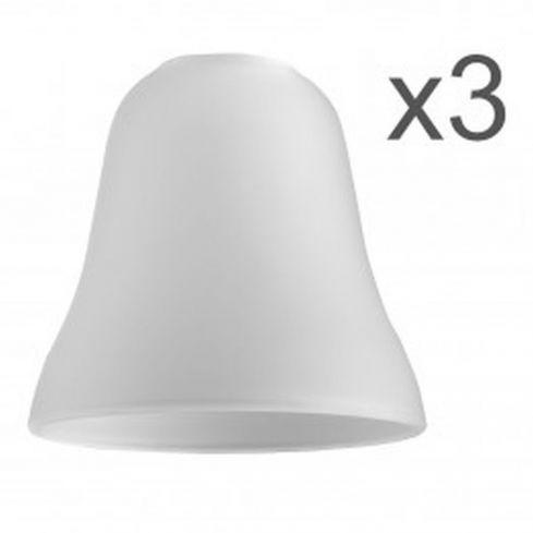 3 Olympus Bell Glass Shades