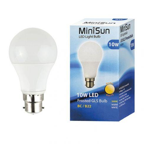 B22 10W LED Bulb 3000K Thermal Plastic