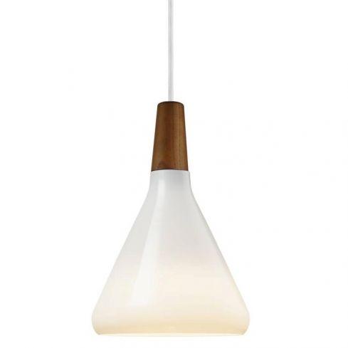 Nori 18 Pendant Ceiling Light Opal White Glass