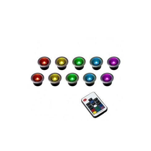 10 Remote Control RGB Decking Light