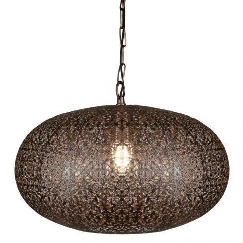 1 Light Moroccan Pendant Copper