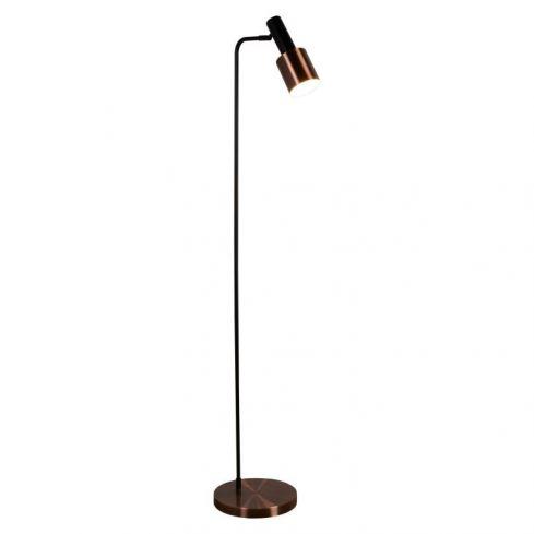 1 Light Floor Lamp Black Copper