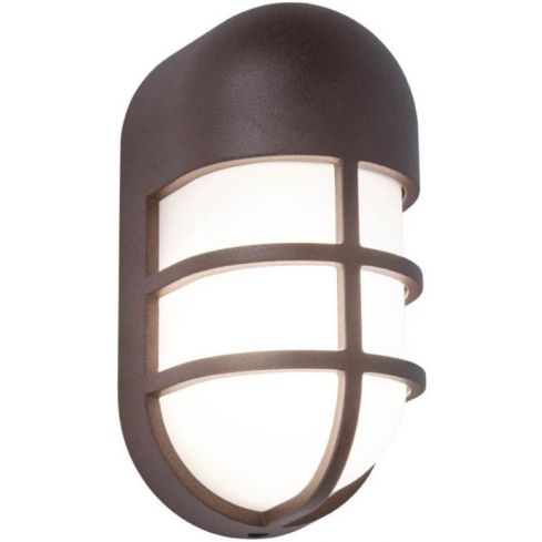 BULLO Outdoor LED Wall/Ceiling Light Rust Brown
