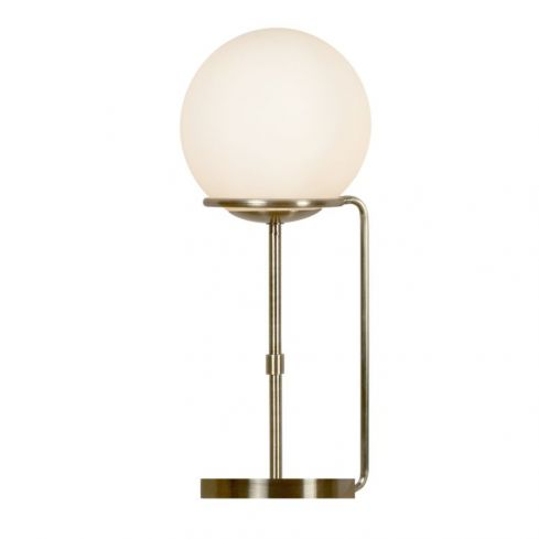 1 Light Table Lamp Brass White Glass Shades
