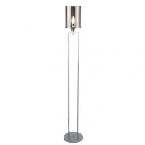 1 Light Floor Lamp Chrome Glass Shades