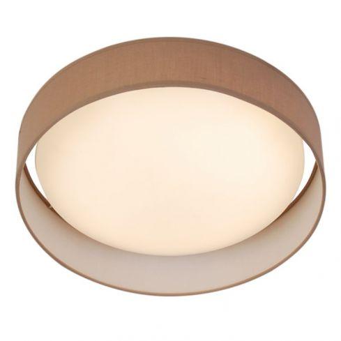 1 Light LED Flush Ceiling Light Brown Shade