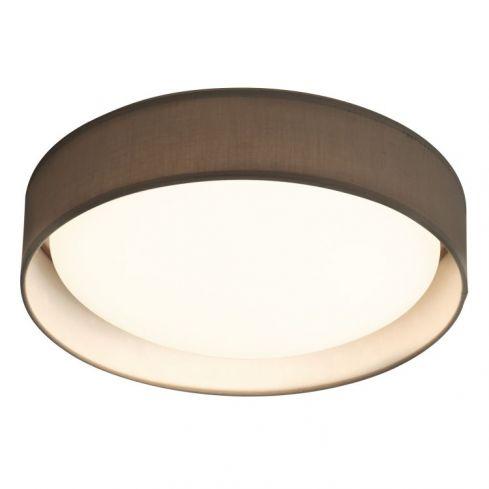 1 Light LED Flush Ceiling Light Grey Shade