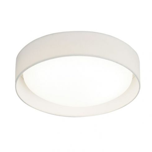 1 Light LED Flush Ceiling Light White Shade