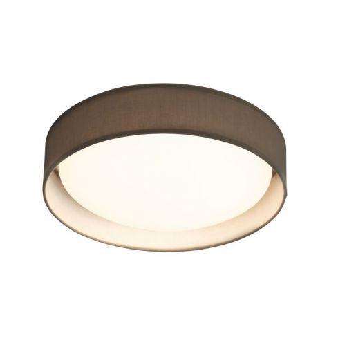 1 Light LED Flush Ceiling Light, Acrylic, Grey Shade