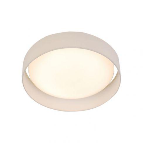 1 Light LED Flush Ceiling Light, Acrylic, White Shade
