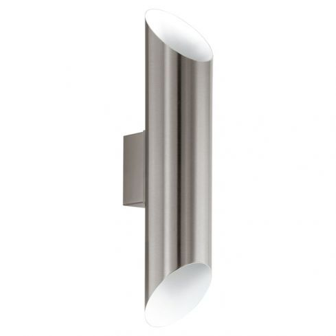 AGOLADA Outdoor Up/Down Wall Light Stainless/White