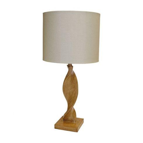 Abia Table Lamp Oak Effect