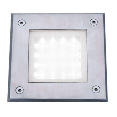 16 LED Square White LED Light Stainless Steel