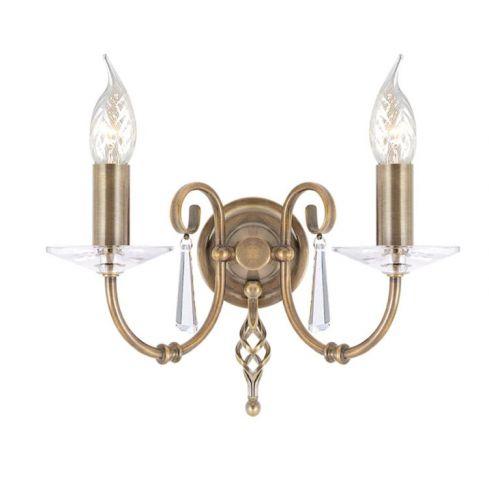 Aegean 2-Light Wall Light Aged Brass