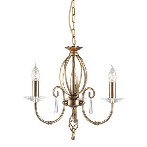 Aegean 3-Light Chandelier Aged Brass