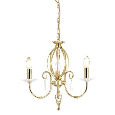 Aegean 3-Light Chandelier Polished Brass