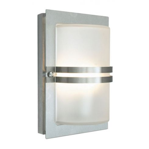 Basel Outdoor Wall Light Stainless Steel Frosted