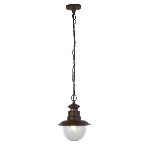 Wooton 1Lt Outdoor Pendant - Rustic Brown