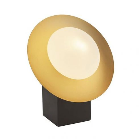 Aire Table Lamp Gold & Dark Bronze Finish With Opal Glass