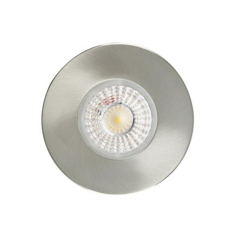CWFRC002 GU10 Fire rated downlight, Fixed, IP20, Brushed Steel