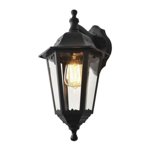 Bianca Up or Down 6 Panel Wall Light Black