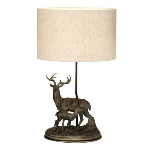 Amelia 1 Light Table Lamp With Oval Shade