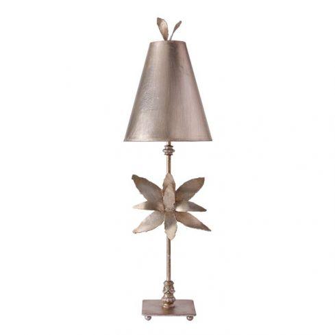 Azalea 1-Light Table Lamp - Silver Leaf