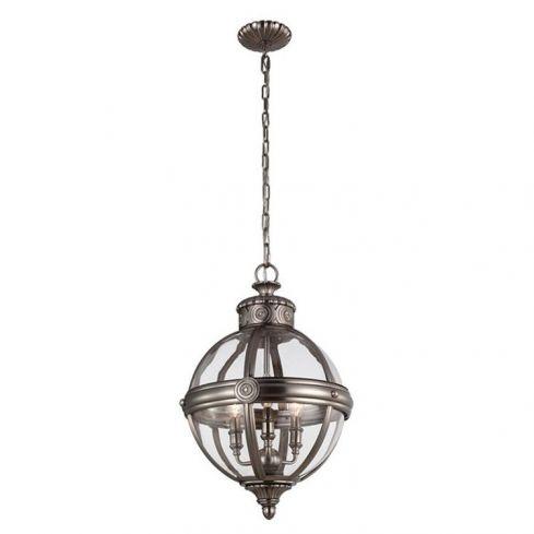 Adams 3-Light Pendant Ceiling Light Chandelier Nickel