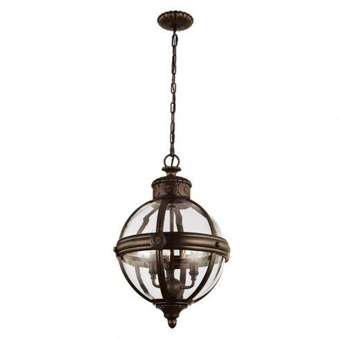 Adams 3-Light Pendant Ceiling Light Chandelier Bronze