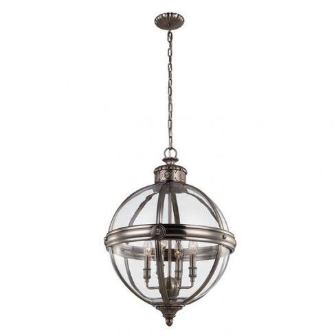Adams 4-Light Pendant Ceiling Light Chandelier Nickel