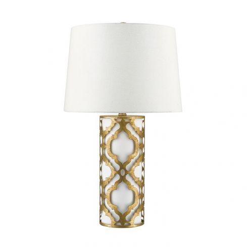 Arabella 1-Light Table Lamp - Distressed Gold