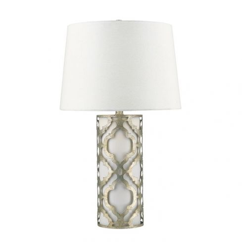 Arabella 1-Light Table Lamp - Distressed Silver