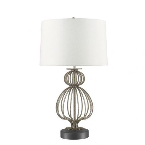 Lafitte 1-Light Table Lamp - Distressed Silver