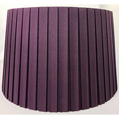 """10"""" Hard Box Pleat Empire Dark Lilac Shade"""