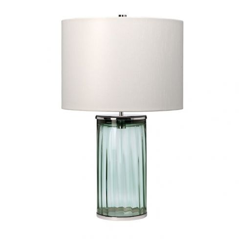 Reno Table Lamp - Green - Polished Nickel