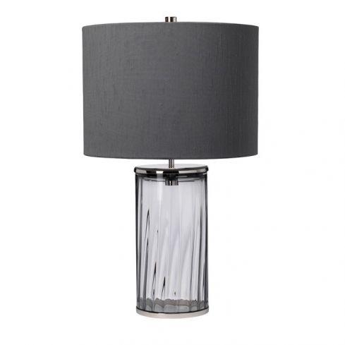 Reno Table Lamp - Smoke - Polished Nickel
