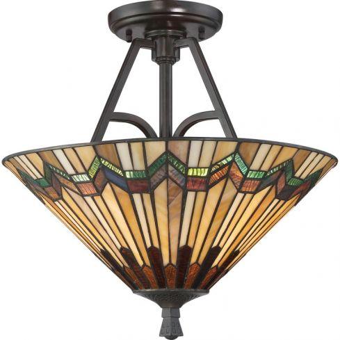Alcott 2-Light Large Semi Flush Ceiling Light