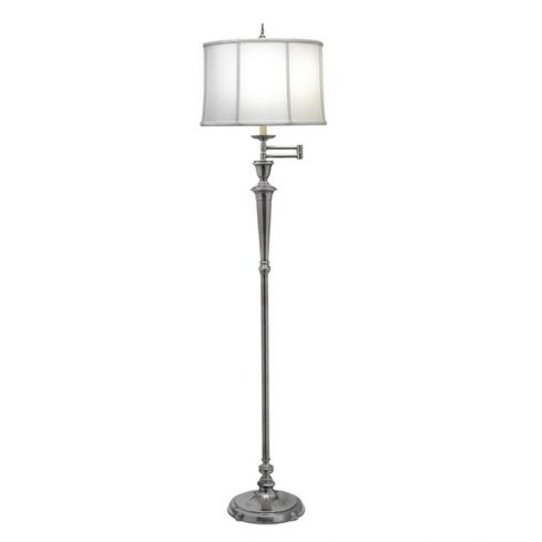 Arlington Swing Arm Floor Lamp Nickel
