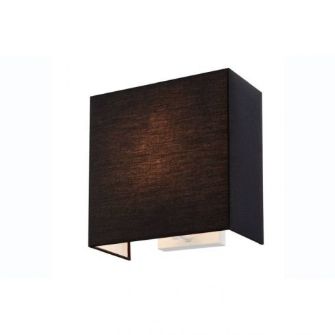 ACCANTO SQUARE E27 Indoor surface-mounted wall light black