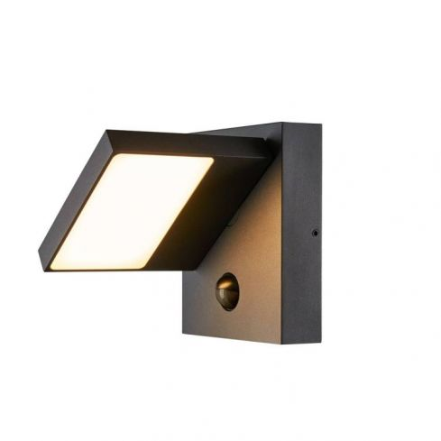 ABRIDOR SENSOR Outdoor LED surface-mounted wall light IP55 anthracite 3000/4000K