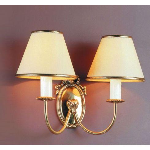 BROOKLANDS Eden 2lt Wall Light B Polished Brass