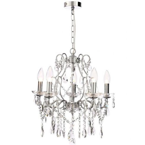 Annalee Large 5 Light Chandelier in Chrome Finish