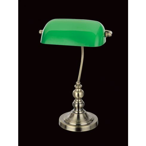 Bankers Table Lamp Antique Brass