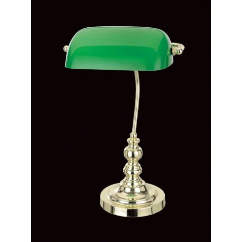 Bankers Table Lamp Polished Brass