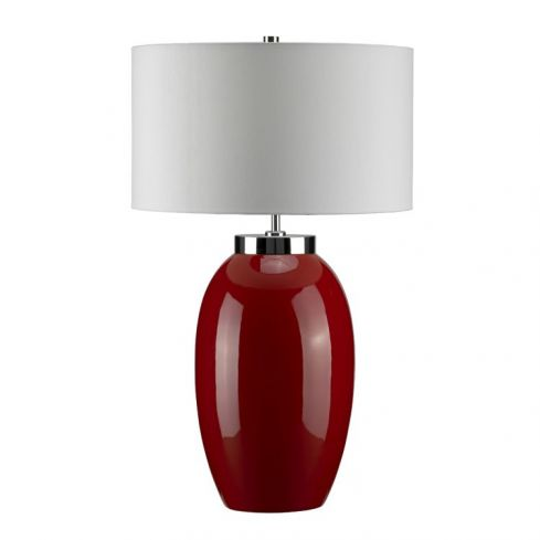 Victor 1-Light Large Table Lamp - Red